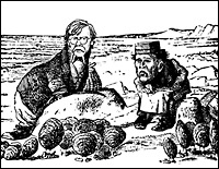 The Walrus and the Carpenter - two of Lewis Carroll's most famous creations.
