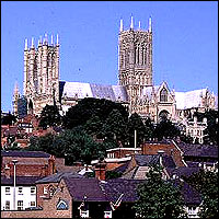 Beautiful Lincoln Cathedral rises up above the rest of this historic city.