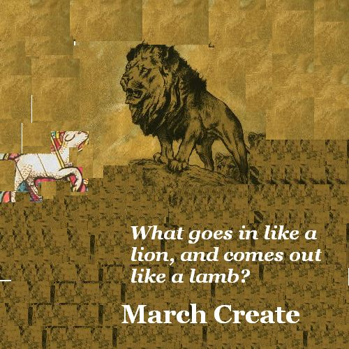 A lamb gets curious about a lion.