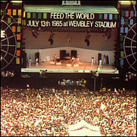 The Live Aid concert, Wembley Stadium, in 1985.