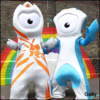 London 2012 mascots Wenlock and Mandeville.