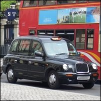 A London black cab.
