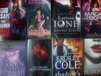Lurid Urban Fantasy books - do not judge these books by the covers