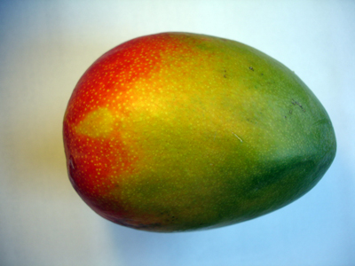 The outside of a mango