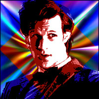 Actor Matt Smith as the Eleventh Doctor. Graphic by Jimster.