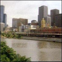 The Melbourne skyline overlooking the River Yarra.