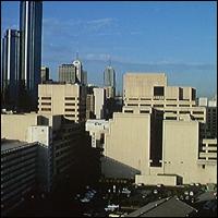 Melbourne Trade Centre skyline.