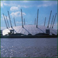 The Millennium Dome in Greenwich.