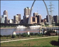 The St Louis Arch in Missouri.