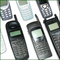 Some mobile phones.