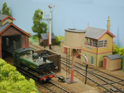 Photograph of a model railway.