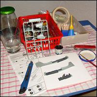 A typical modeller's desk.