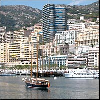 The harbour in Monaco, playground of the rich and famous