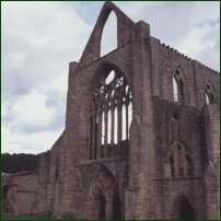 The ruins of Tintern Abbey, Monmouthshire.