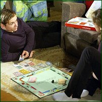 EastEnders Jamie and Sonia play Monopoly.