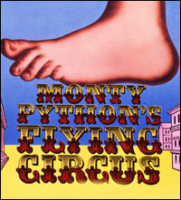 The raspberry-blowing foot from the title sequence to 'Monty-Python's Flying Circus'