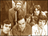 Clockwise, from top left: Graham Chapman, Eric Idle, Terry Gilliam, Michael Palin, John Cleese and Terry Jones