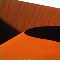 Sand dunes at Dawn in the Namib desert, Namibia.