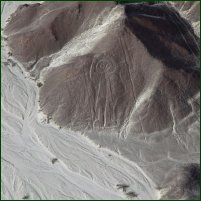 A section of the Nazca lines, in Peru.