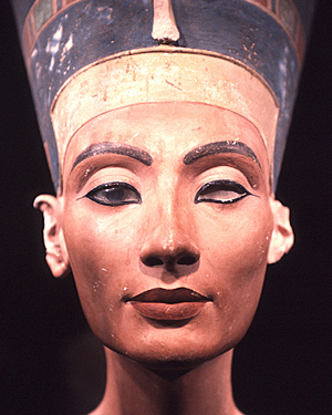 A bust of Nefertiti in Egyptian Museum in Berlin