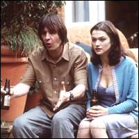 Neil Morrissey and Rachel Weisz watching football on the TV in a comedy romance called 'My Summer With Des'.