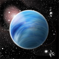 The planet Neptune.