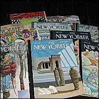 Some copies of the New Yorker.