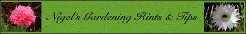 A banner for Nigel's Gardening column