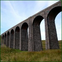 The Ribblehead Viaduct in North Yorkshire.