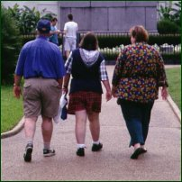 An overweight family.