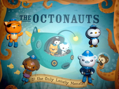 Four Octonaut characters on The Octonauts book.