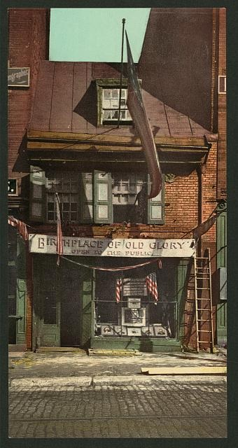 Betsy Ross House in 1900.