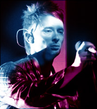 Thom Yorke, lead singer with the band Radiohead.