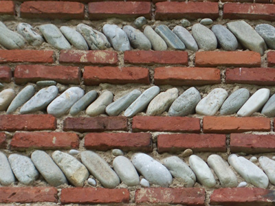 Closeup of an old farmhouse wall.