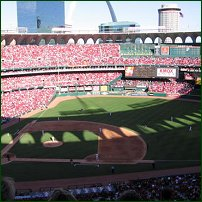 The Old Busch Stadium, home of St Louis Cardinals baseball team.