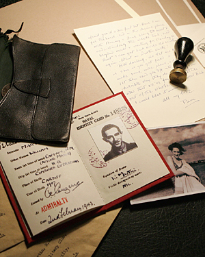 The identity papers and affects of the fake Bill Martin spread out on a table, as feaured in the 2010 BBC documentary 'Operation Mincemeat'