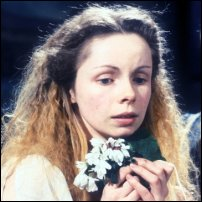 Lalla Ward as Ophelia in a 1980 BBC production of 'Hamlet'.