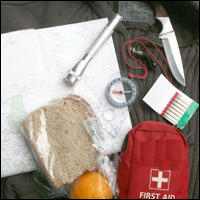 Essential items for outdoor survival.