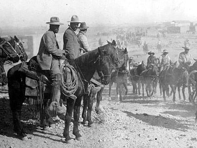 Pancho Villa Reviewing His Troops