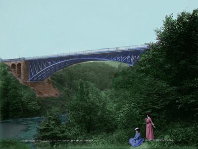 Panther Bridge and hollow, Schenley Park, Pittsburgh, Pennsylvania, c1900.