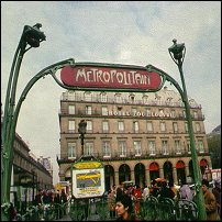 A Paris Metropolitan station.
