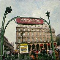 A Paris Metropolitan station.