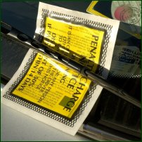 A parking ticket.