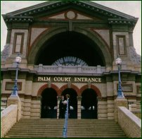 The entrance of Alexandra Palace, one of the main landmarks of the Parkland Walk.