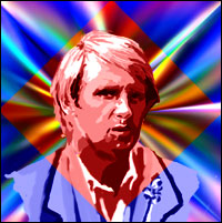 Actor Peter Davison as the fifth 'Doctor Who'. Graphic by Jimster.