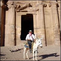 Dan Cruickshank in Petra, the Nabatean capital.
