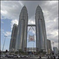 The Petronas Towers of Kuala Lumpur, Malaysia.