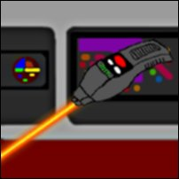 A Star Trek phaser in action