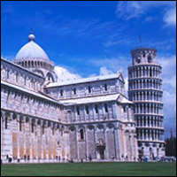 Pisa's Cathedral and Leaning Tower.