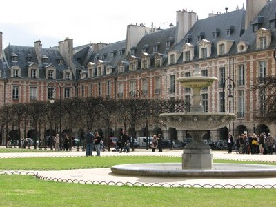 Place des Vosges, Paris, France.